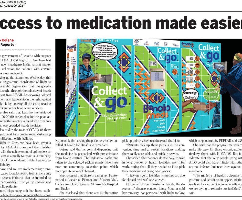 Access to medication made easier